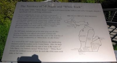 "The Territory of Michigan and ""White Rock"" Marker image. Click for full size."