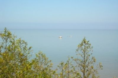 White Rock in Lake Huron image. Click for full size.