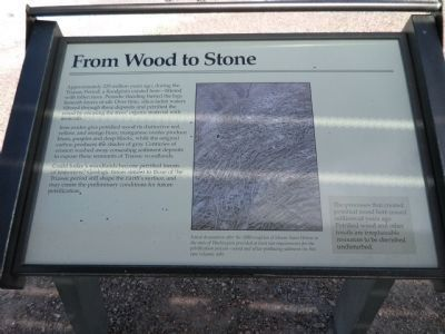 From Wood to Stone Marker image. Click for full size.