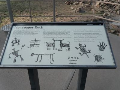 Newspaper Rock Marker image. Click for full size.