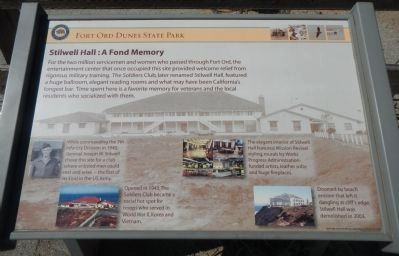 Stilwell Hall: A Fond Memory Marker image. Click for full size.