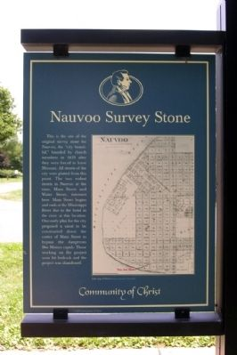 Nauvoo Survey Stone Marker image. Click for full size.