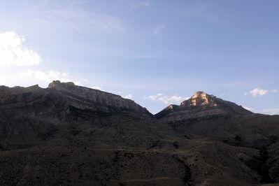 Elephant Head Rock, Sunlight Mesa, and Pyramid Peak image. Click for full size.