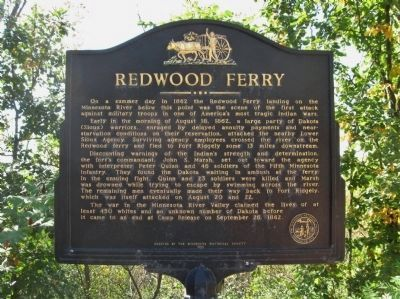 Redwood Ferry Marker image. Click for full size.