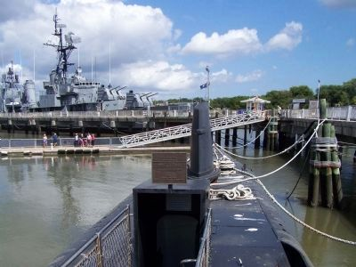 USS Clamagore Marker and mooring location ,2013 Photo, Click for full size