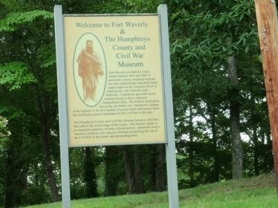 Fort Waverly & The Humphreys County and Civil War Museum Marker image. Click for full size.