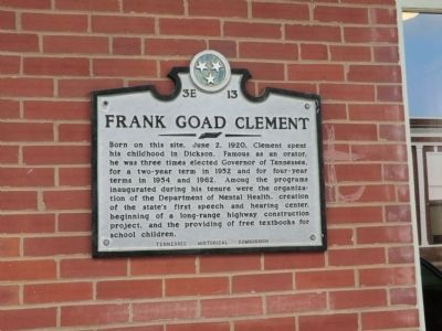 Frank Goad Clement Marker image. Click for full size.