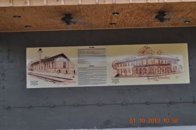 The Depot & Hotel Markers image. Click for full size.