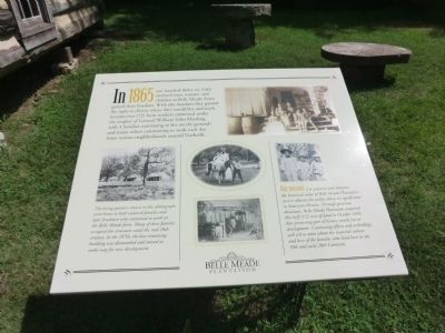 Belle Meade Farm Freedom Marker image. Click for full size.