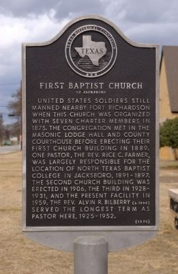 First Baptist Church Historical Marker image. Click for full size.