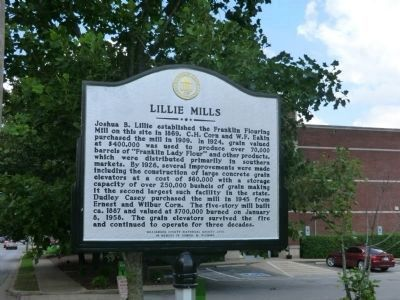 Lillie Mills Marker (side 2) image. Click for full size.