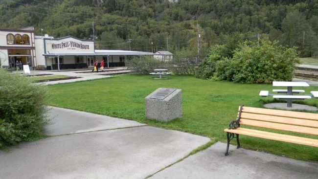 Inspector Charles Constantine Marker, Centennial Park, Skagway image. Click for full size.