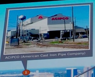 1. ACIPCO (American Cast Iron Pipe Company) image. Click for full size.