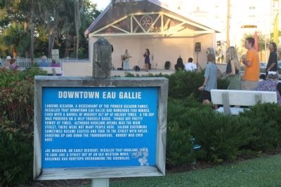 Downtown Eau Gallie Marker image. Click for full size.