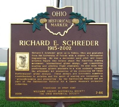 Richard E. Schreder Marker image. Click for full size.