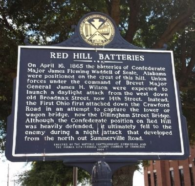 Red Hill Batteries Marker image. Click for full size.