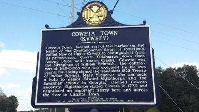 Coweta Town Marker image. Click for full size.