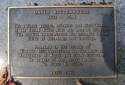 David Rittenhouse Marker image. Click for full size.