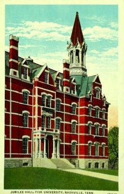 Jubilee Hall, Fisk University image. Click for full size.