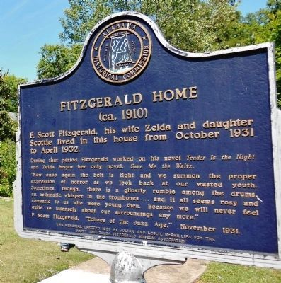 Fitzgerald Home Marker (side 1) image. Click for full size.