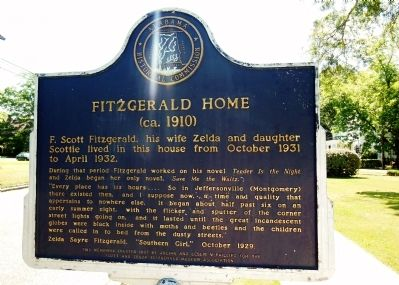 Fitzgerald Home Marker (side 2) image. Click for full size.