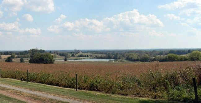 View of the Brandy Station battlefield from Beauregard Photo, Click for full size