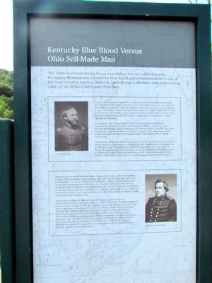 Kentucky Blue Blood versus Ohio Self-Made Man Marker image. Click for full size.