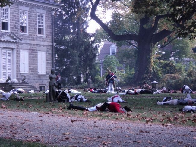 British Dead at the Battle of Germantown image. Click for full size.