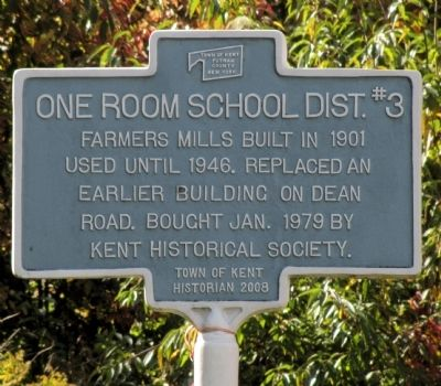 One Room School Dist. #3 Marker image. Click for full size.