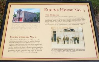 Engine House No. 3 Marker image. Click for full size.