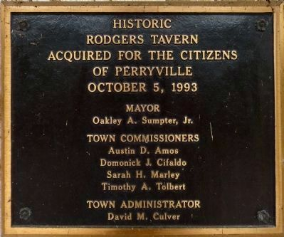 Rodgers Tavern Acquired for the Citizens of Perryville<br>October 5, 1993 image. Click for full size.