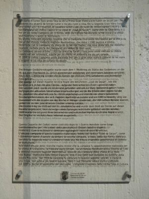 Ortisei War Memorial Marker image. Click for full size.