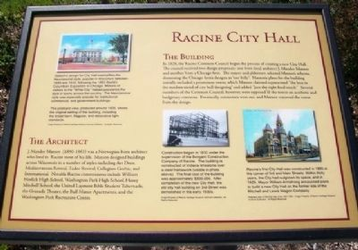 Racine City Hall Marker image. Click for full size.