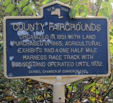 County Fairgrounds Marker image. Click for full size.