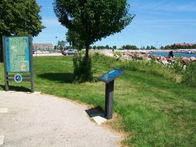 The Racine Harbor Marker image. Click for full size.
