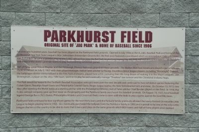 Parkhurst Field Marker Photo, Click for full size