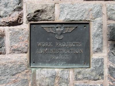 Plaque on Shelter image. Click for full size.