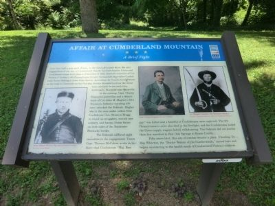 Affair at Cumberland Mountain Marker image. Click for full size.