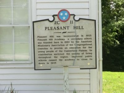 Pleasant Hill Marker image. Click for full size.