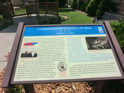 Cumberland County at War Marker image. Click for full size.