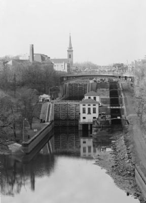 <i>View Looking Southwest, Taken from Railroad Bridge...</i> image. Click for full size.