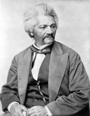 Frederick Douglass, circa 1850-1860 image. Click for full size.