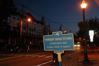 Throop Drug Store Marker image. Click for full size.