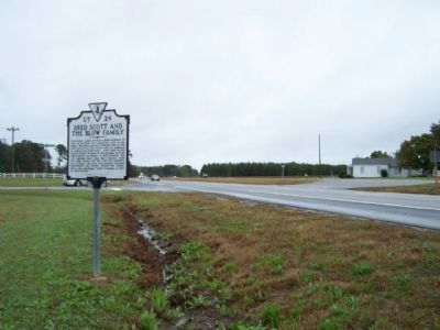 Dred Scott And The Blow Family Marker , near Buckhorn Quarter Road looking eastward image. Click for full size.
