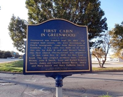 First Cabin in Greenwood Marker image. Click for full size.