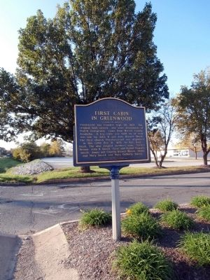 Long View - - First Cabin in Greenwood Marker image. Click for full size.