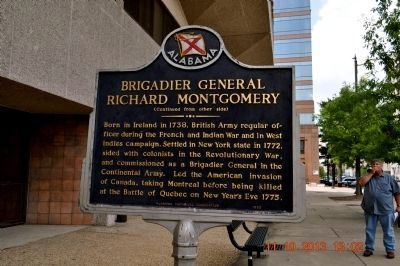 Brigadier General Richard Montgomery Marker image. Click for full size.