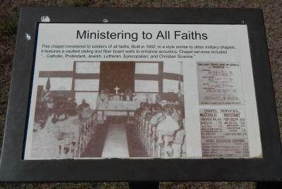 Ministering to all Faiths Marker image. Click for full size.