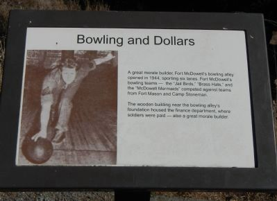 Bowling and Dollars Marker image. Click for full size.