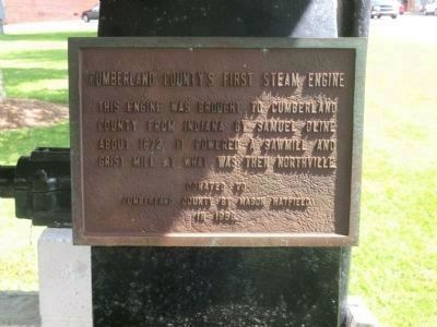 Cumberland County's First Steam Engine Marker image. Click for full size.
